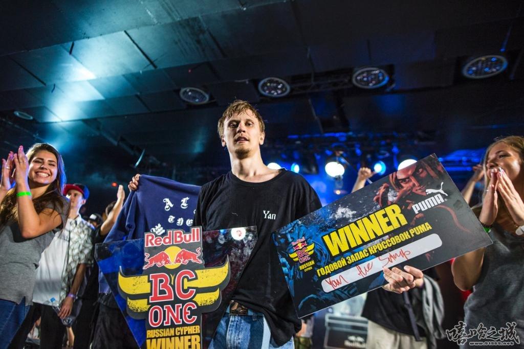 boy Yan 获得Red Bull BC One Russia Cypher 2