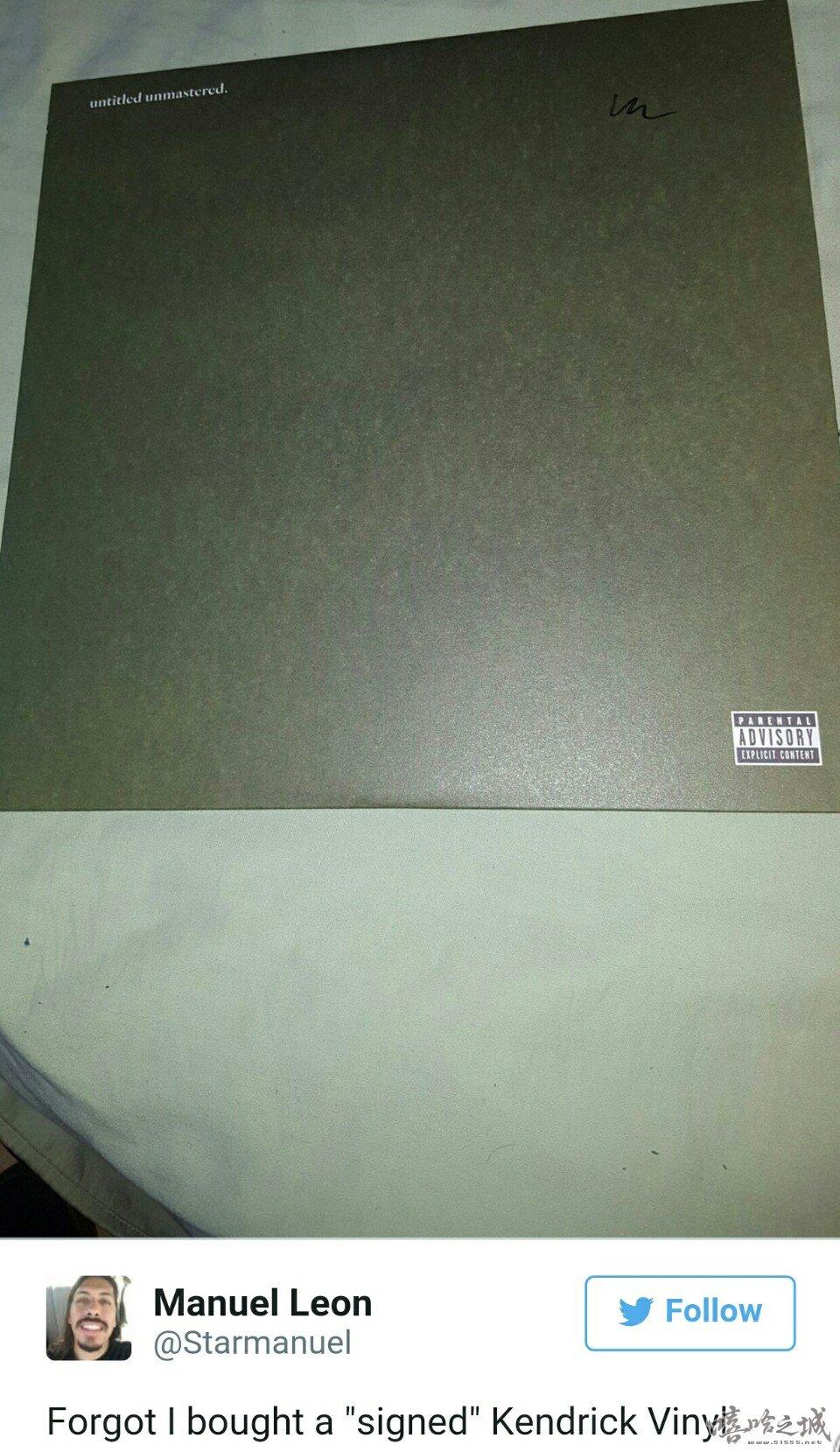 Kendrick Lamar发售黑胶版本专辑被吐槽签名草率
