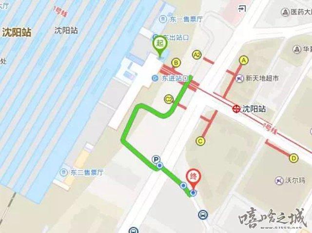 丨推荐路线丨    沈阳北站: 南广场出站(可以从地下通道直接到达