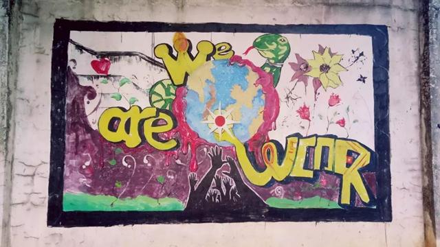 嘻哈校园 华南理工大学广州学院 涂鸦风景